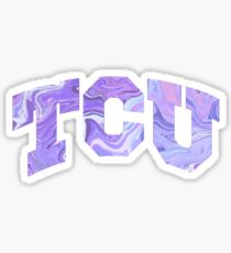 TCU Psychadellic  Sticker