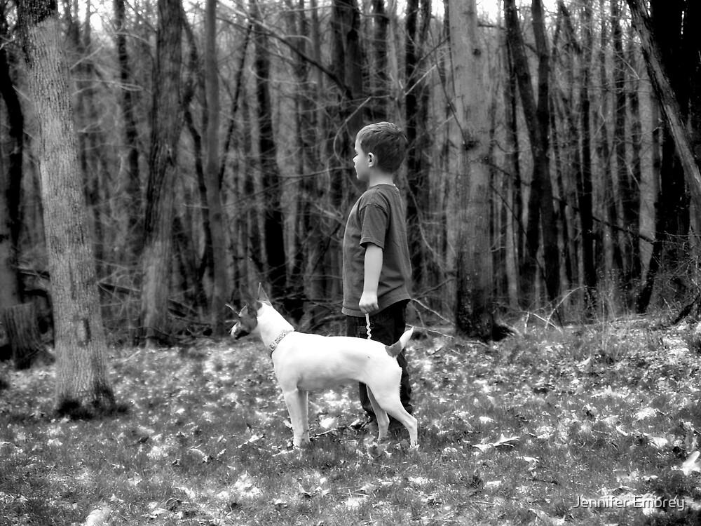 A boy and his dog by Jennifer Embrey