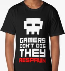 Pixel Skull Gamers Don't Die Long T-Shirt