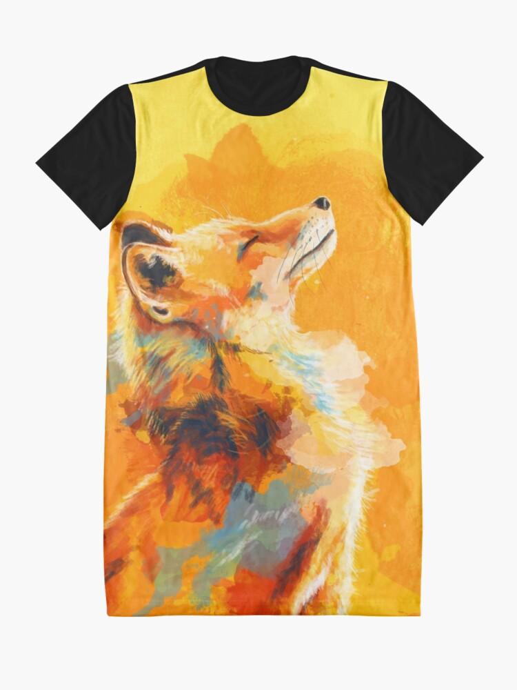 Alternative Ansicht von Glückseliges Licht - Fox-Illustration, Tierporträt, inspirierend T-Shirt Kleid
