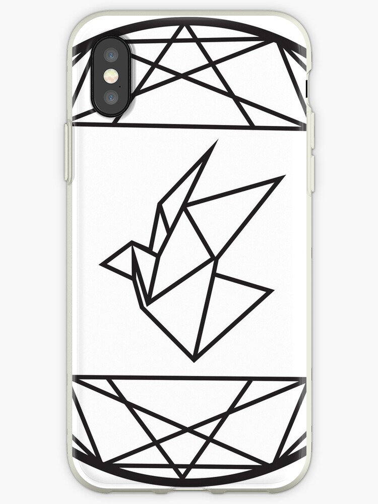 Geometric Paper Crane Design Iphone Cases Covers By Neodesign
