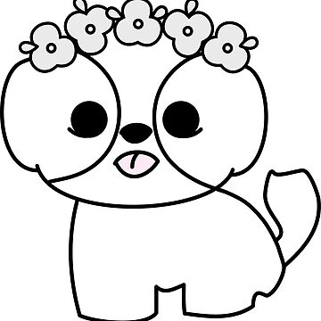 Shih Tzu Puppy with Flower Crown by meetminnie