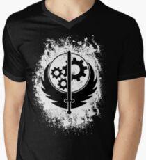 Brother hood of steel T-shirt - Inverted Men's V-Neck T-Shirt