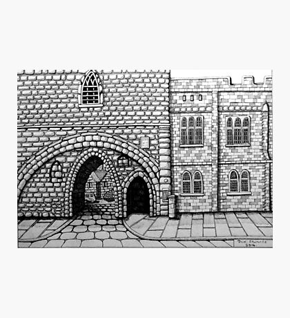 256 - ABBEY ARCH, NORTHGATE STREET, CHESTER DAVE EDWARDS - INK 2014 Photographic Print