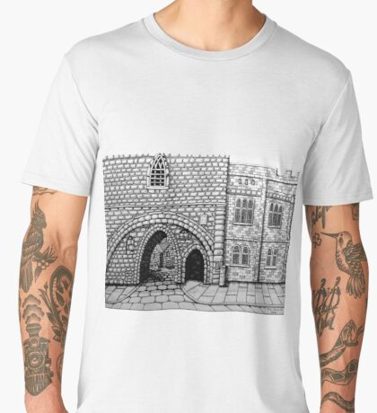 256 - ABBEY ARCH, NORTHGATE STREET, CHESTER DAVE EDWARDS - INK 2014 Men's Premium T-Shirt