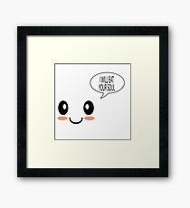Cute Face Dark Humor Framed Print