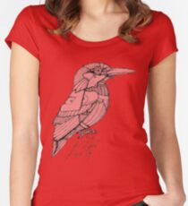 A robotic armoured bird (kingfisher) Women's Fitted Scoop T-Shirt