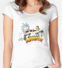 Rick And Morty - Get Schwifty Women's Fitted Scoop T-Shirt