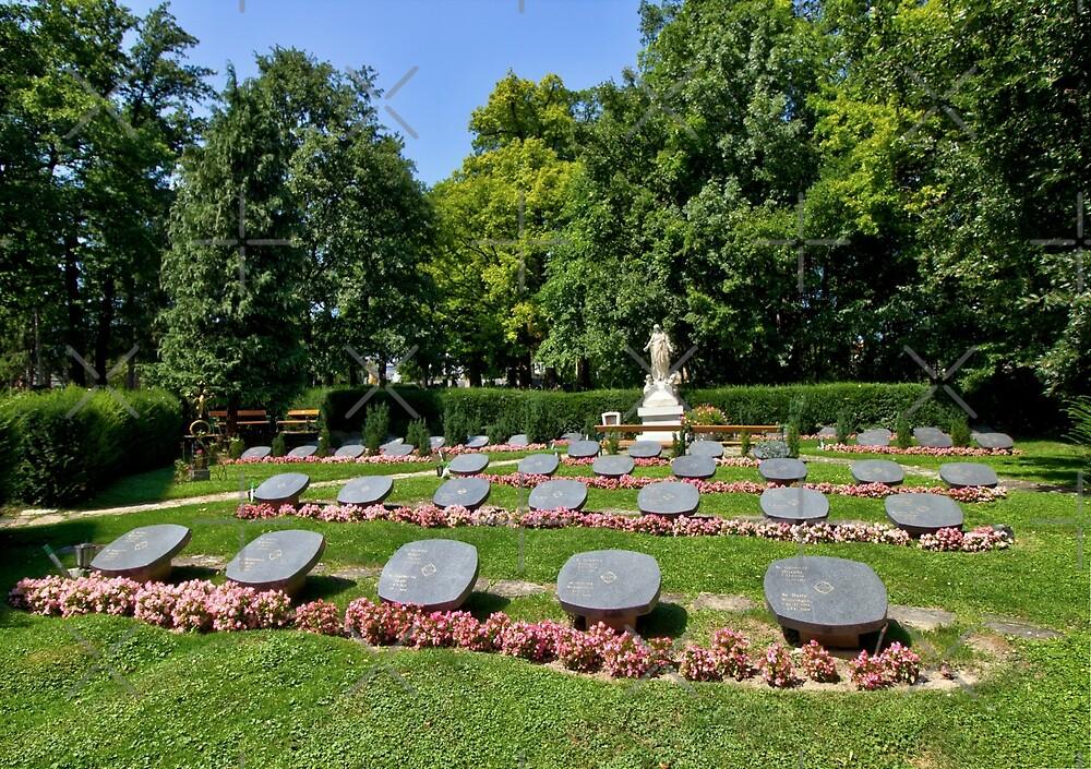 Graves Of Salvatorian Sisters, 1140 Vienna Austria by Mythos57