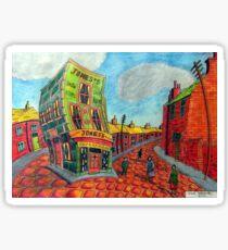 373 - JONES'S SHOP, RHOSLLANERCHRUGOG - DAVE EDWARDS - COLOURED PENCILS - 2012 Sticker