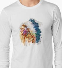 Native American Chief Side Face T-Shirt