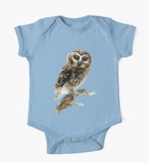 Watercolor Brown Owl Kids Clothes