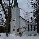 Winter church by Diane Trummer Sullivan