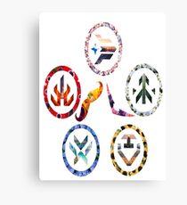 Voltron team symbols Canvas Print