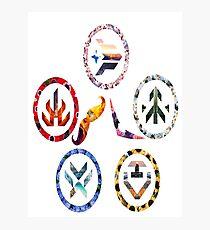Voltron team symbols Photographic Print
