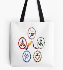 Voltron team symbols Tote Bag