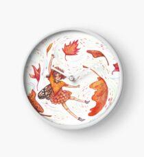 Fall Fairy Clock