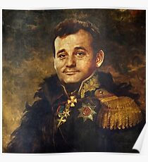 Satirical Portrait - Bill Murray  Poster