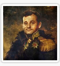 Satirical Portrait - Bill Murray  Sticker