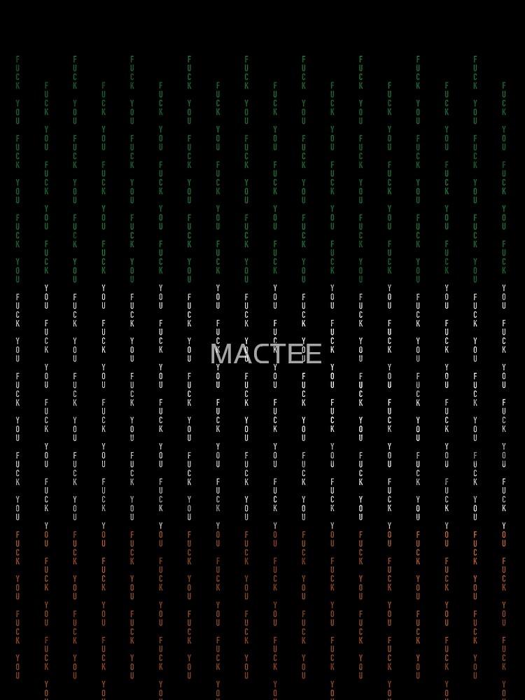 F U Tri colour - McGregor by MACTEE