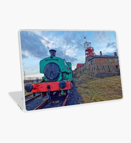 Steam Tender at Welsh Coal Mine, Wales / UK Laptop Skin