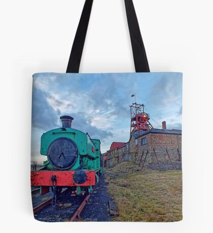 Steam Tender at Welsh Coal Mine, Wales / UK Tote Bag