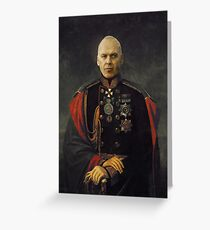 A satirical portrait - Michael Keaton Greeting Card