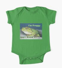 I'm Froggy and I know it! Kids Clothes