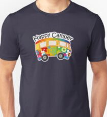 HAPPY CAMPER PEACE VOLKSWAGEN HIPPIE BUS HIPPY CAMPING CAMP T-Shirt