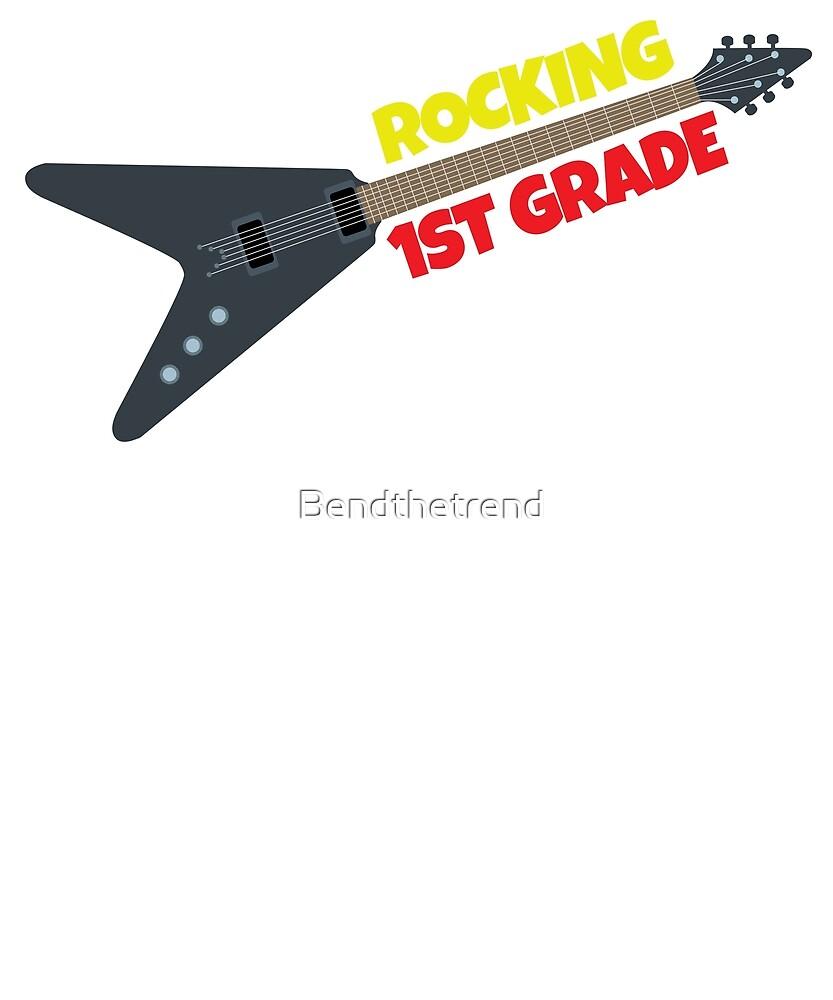 Rockin' First Grade 1st Grader Rock Star by Bendthetrend