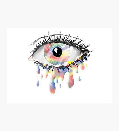Rainbow Tears Photographic Print