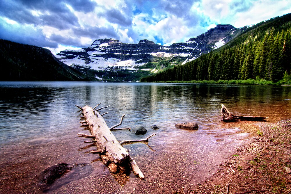 Lake in the Waterton National Park Canada by tonyso68