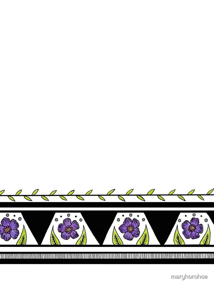 Flower Stripe by maryhorohoe