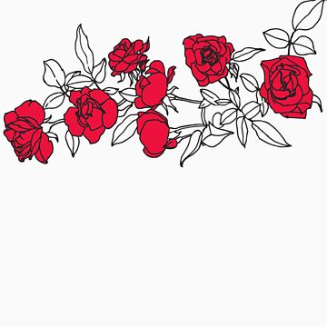 Roses 3 (red) by corallita