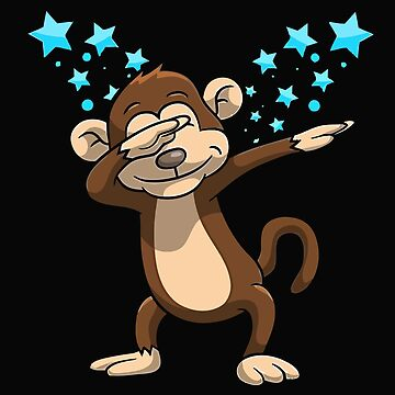 Monkey Dab Funny Dabbing Stars by t058840758