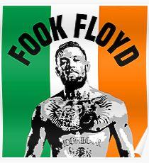 Conor Mcgregor Fook Floyd Flag Poster
