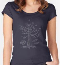 Camiseta entallada de cuello redondo El árbol blanco de Gondor
