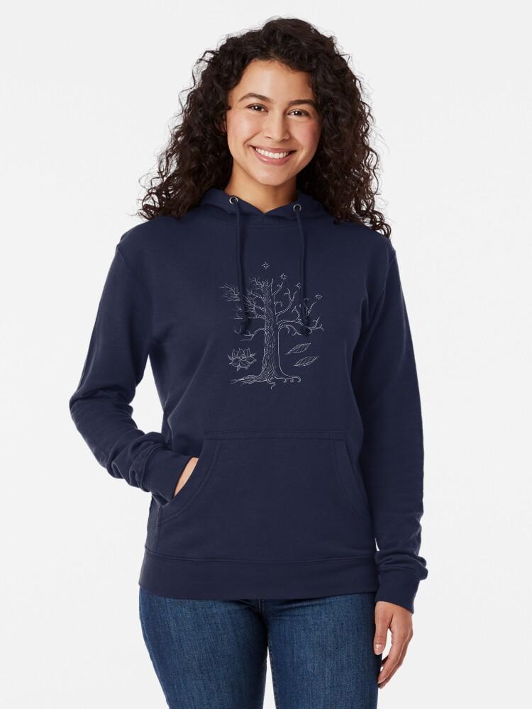 Mens Interconnected Hooded Sweatshirt Funny Printed Pullover Hoodies Classic Long Sleeve T Shirt Tops