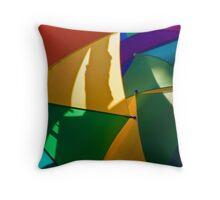 Primary Umbrellas Throw Pillow