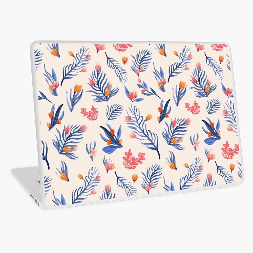 Succulent garden pattern on cream Laptop Skin