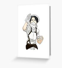 Levi Ackerman Cleaning Greeting Card