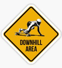 Downhill Area. Skaters and longboarders expected! Sticker