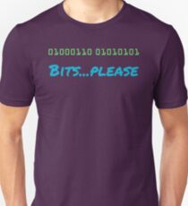Binary... Bits Please Computer humor T-Shirt
