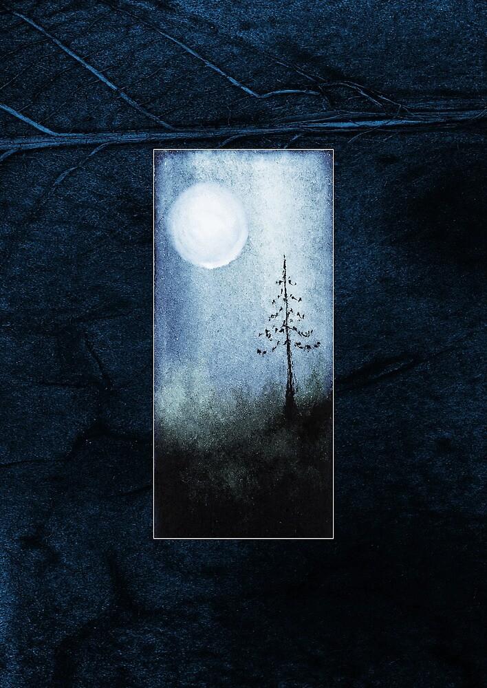 tree blue moon blue journal by tamlit