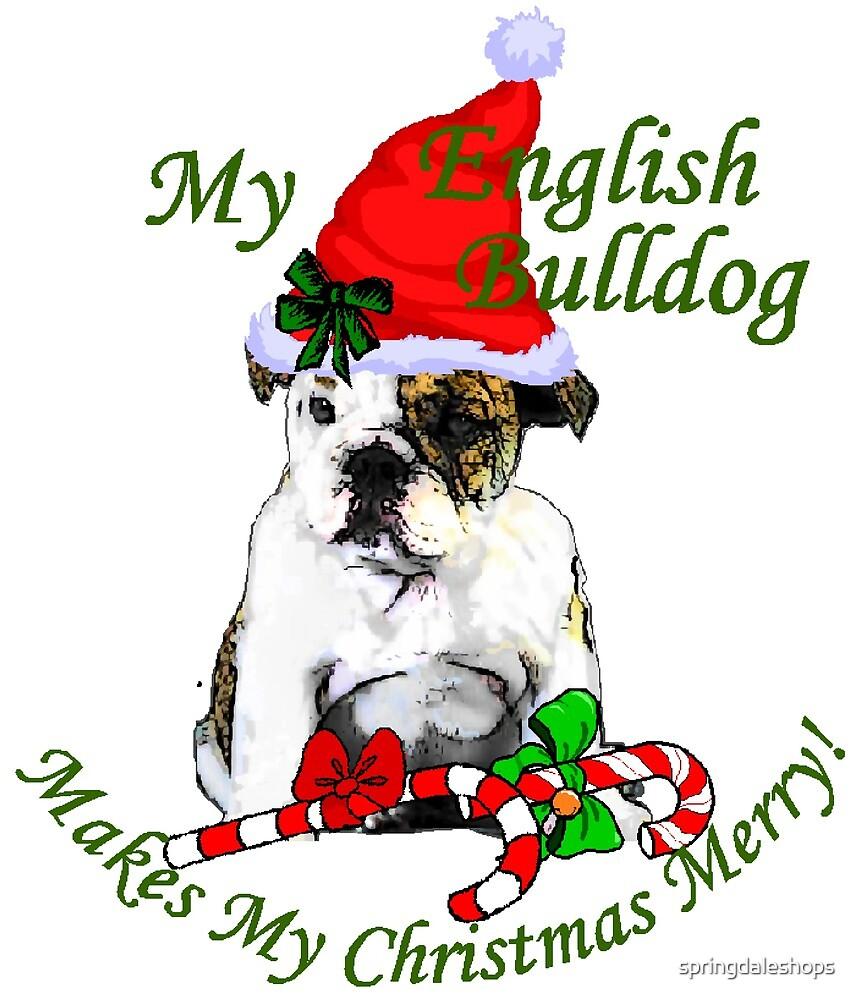 English Bulldog Christmas Gifts by springdaleshops