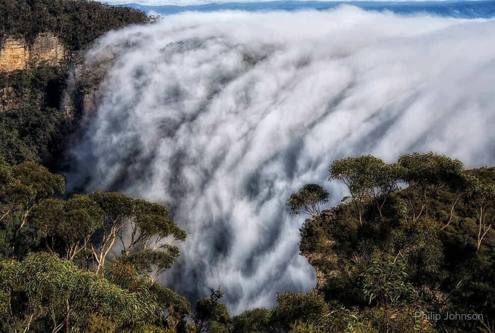 Phantom Falls #1 - Blue Mountains World Heritage Area - Katoomba Australia by Philip Johnson