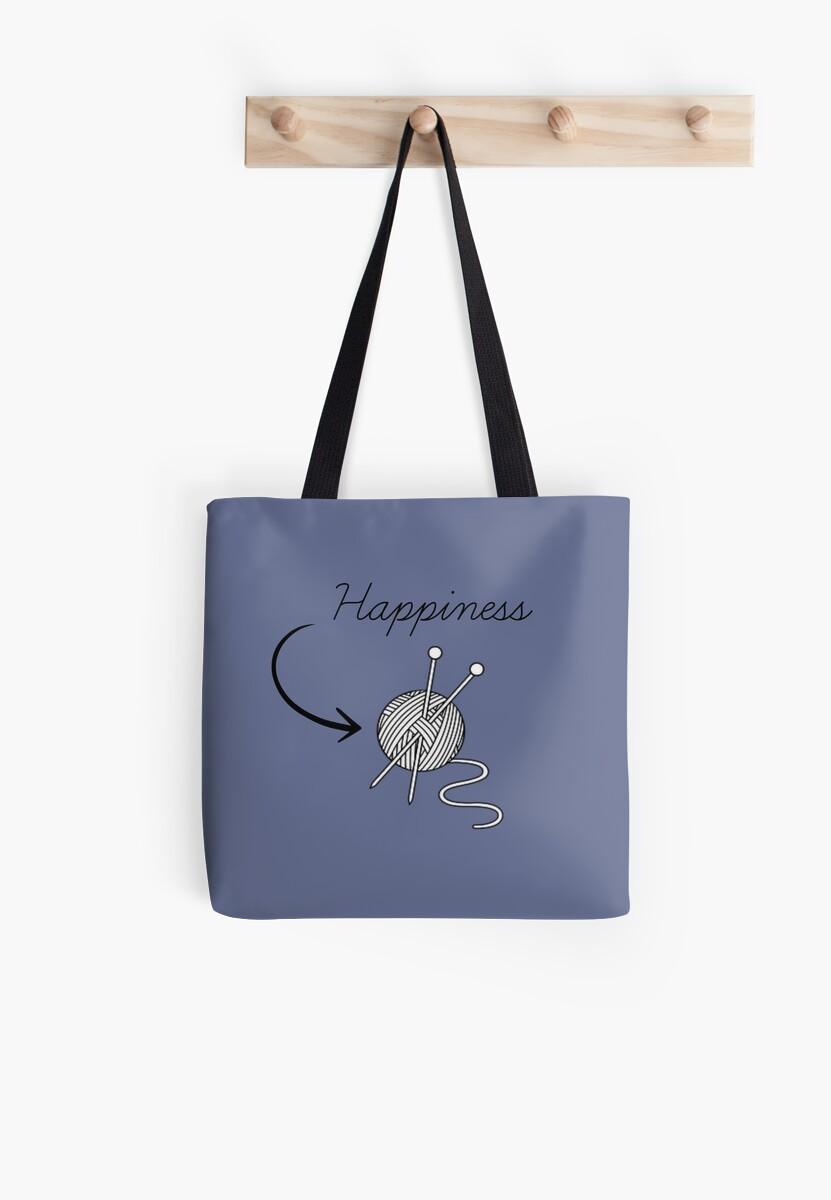 """Happiness"" knitting t-shirt for knitters who knit by awmcdani"