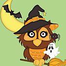 Cute Halloween Owl by artgoddess