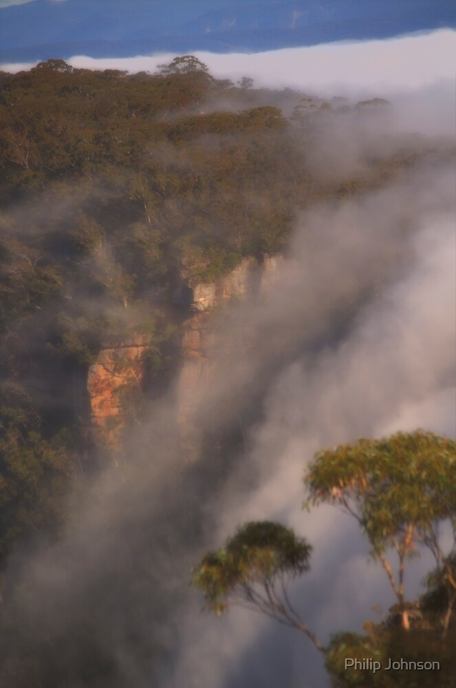Phantom Falls #2 - Blue Mountains World Heritage Area - Katoomba Australia by Philip Johnson