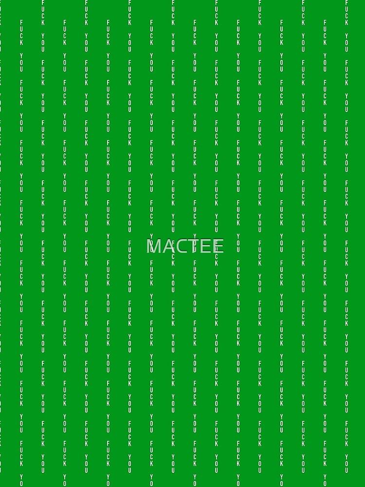 McGregor Pin Stripe green F.U. by MACTEE